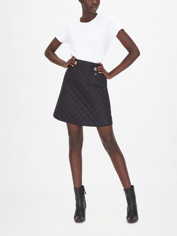 Quilted Mini Skirt With Pockets