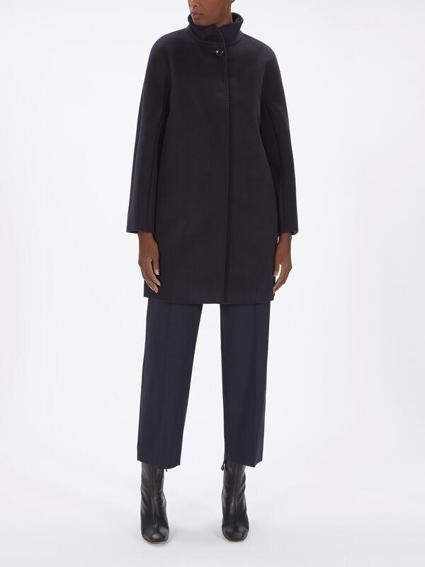 Zenit Funnel Collar Wool Coat