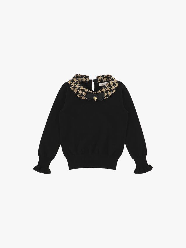 Houndstooth Collar Knit