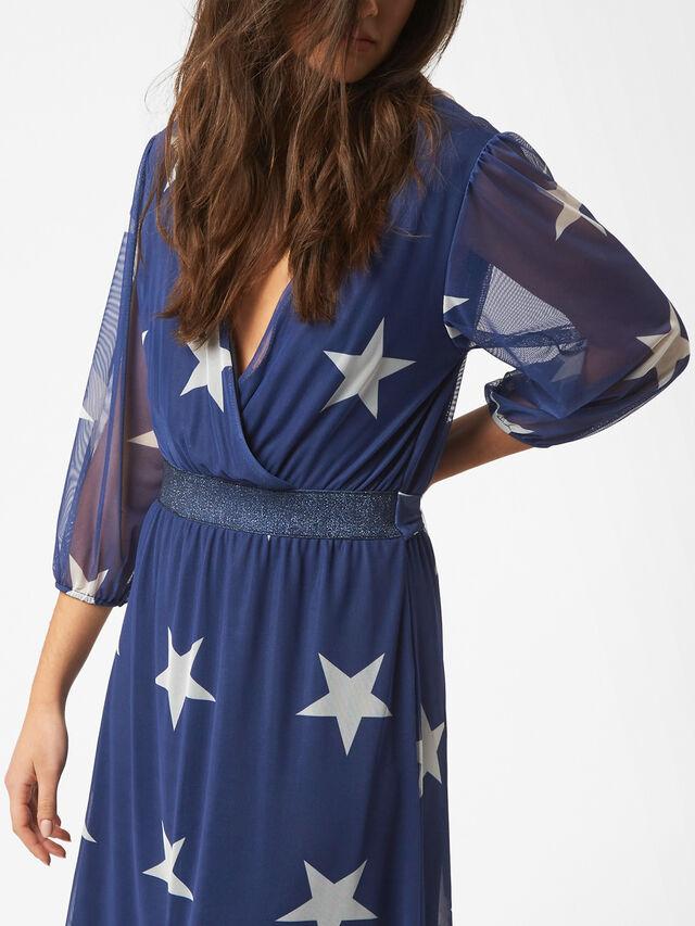 Star Print Tulle Dress