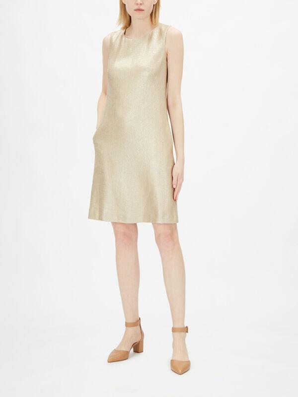 Metallic Shift Dress