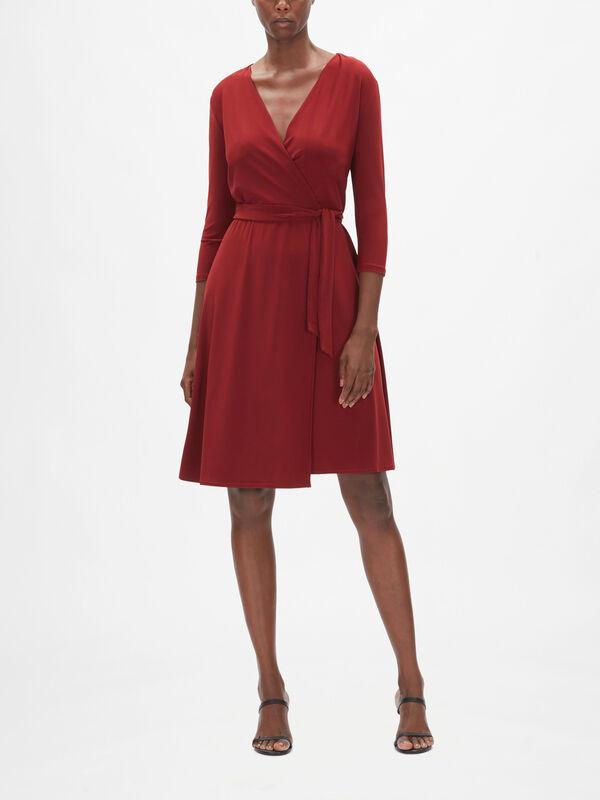 Leisure Dida Jersey Wrap Dress