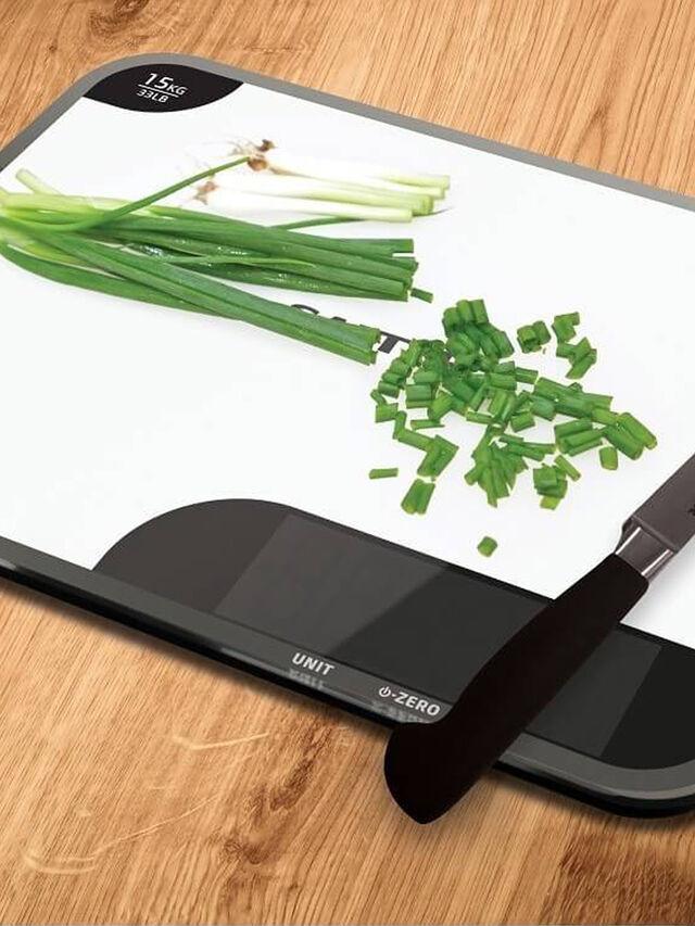 15kg Max Chopping Board Digital Kitchen Scale