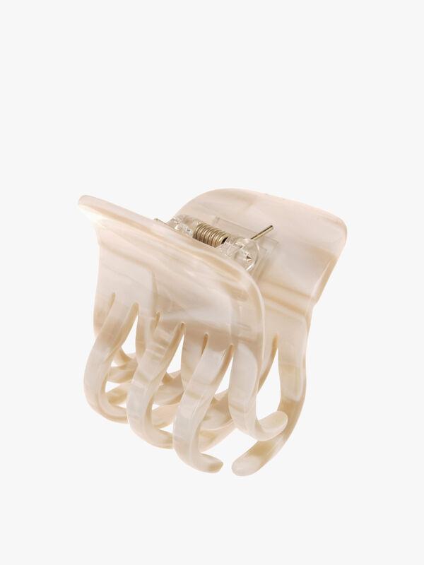 Double Tooth Bulldog Claw Clip (Cream)