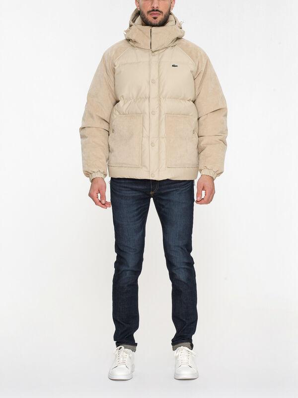Cord Sleeve Live Padded Jacket