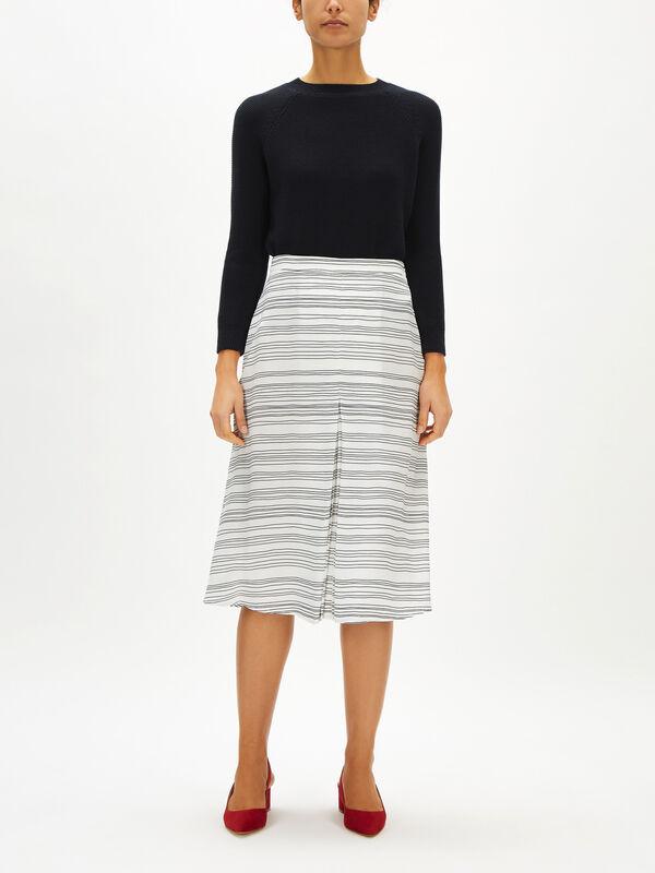 Soft Printed Stripe Skirt