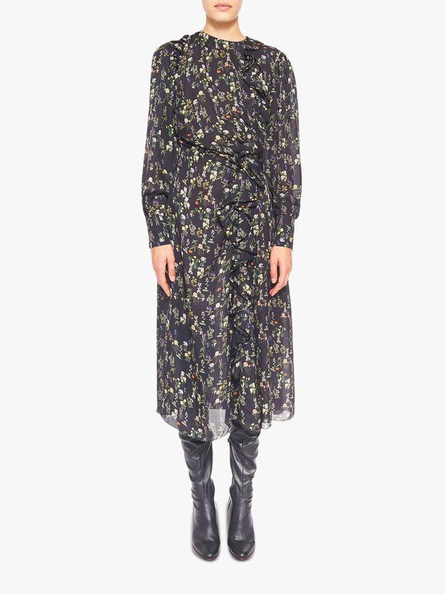 Nicola Dotted Jacquard Dress