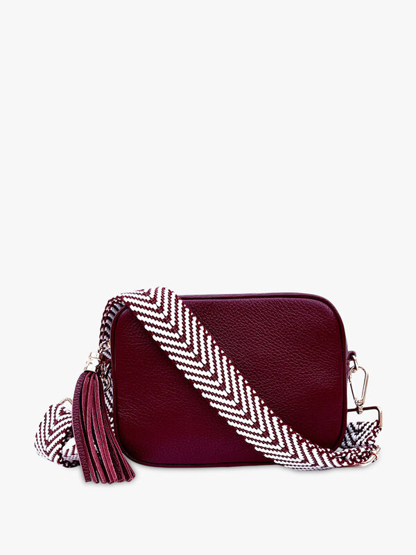 Mulberry Leather Bag with Mulberry Chevron