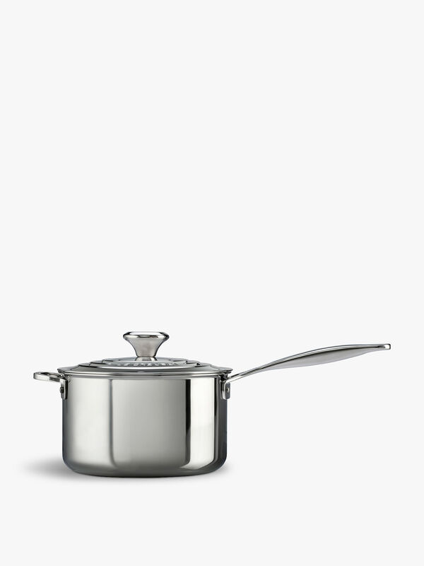 Signature Uncoated Saucepan With Lid 18cm