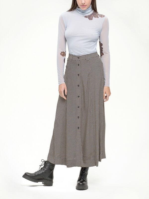 Tannin Check Skirt