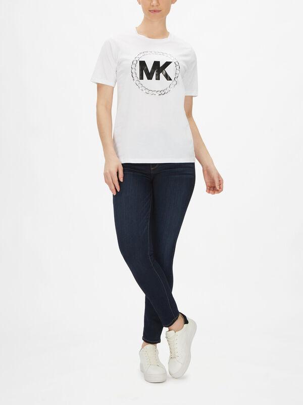 Chain MK Logo T-Shirt