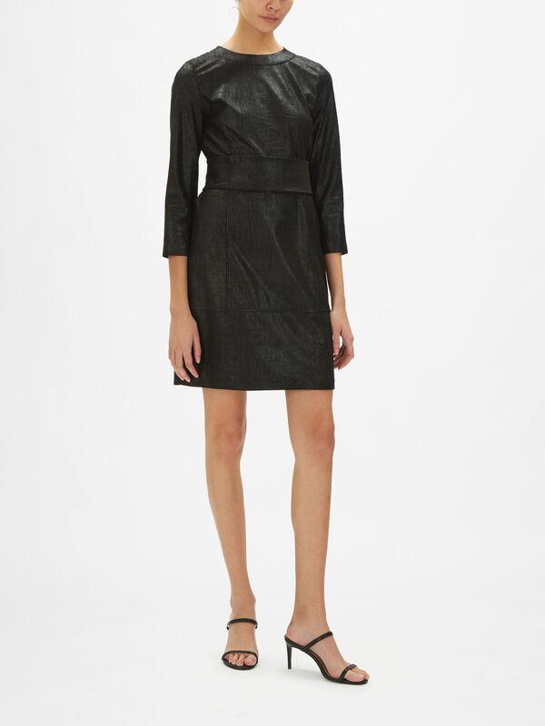 Naia Croc Belted Mini Dress