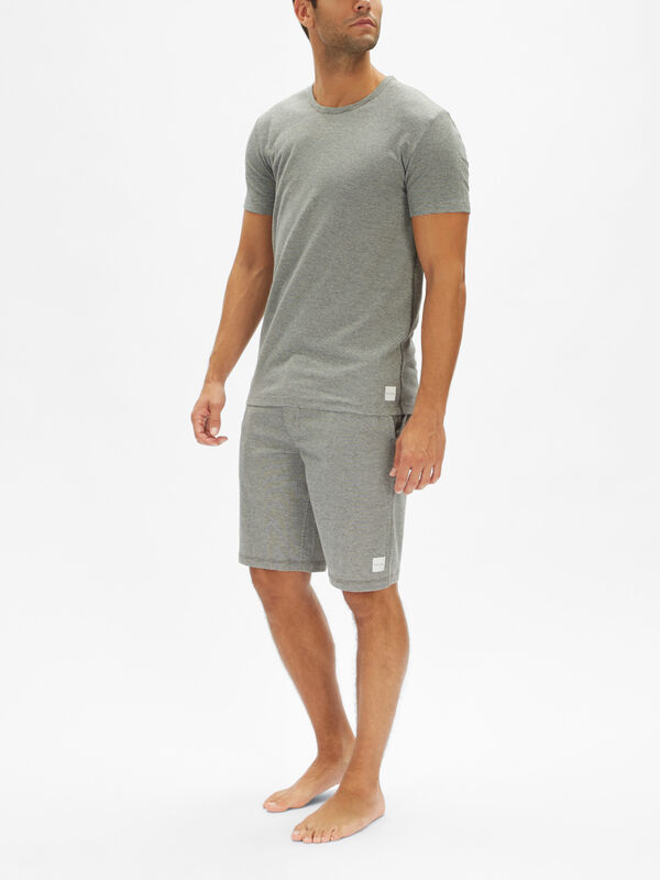 Mesh-Texture Lounge T-Shirt