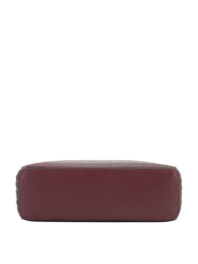 Cassetta Croco Leather Box Crossbody