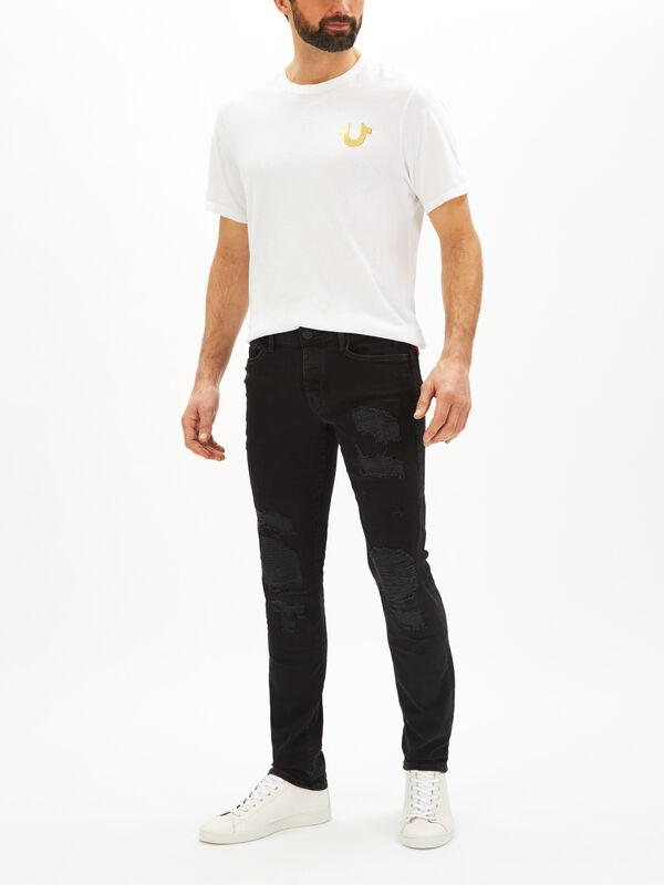 Rocco Slim Fit Rip & Repair Jeans