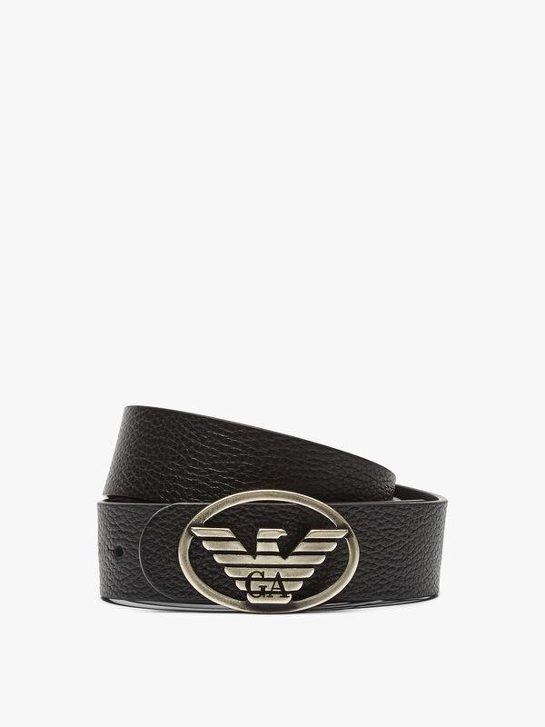 Oval Logo Buckle Belt