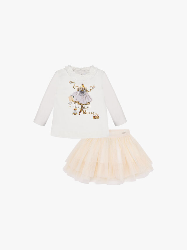 T-Shirt And Tulle Skirt Set