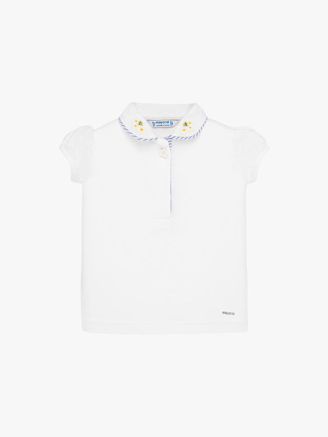 Polo With Floral Embroidery