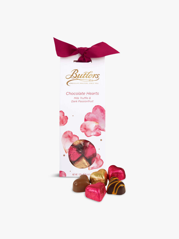 Assorted Chocolate Hearts 130g