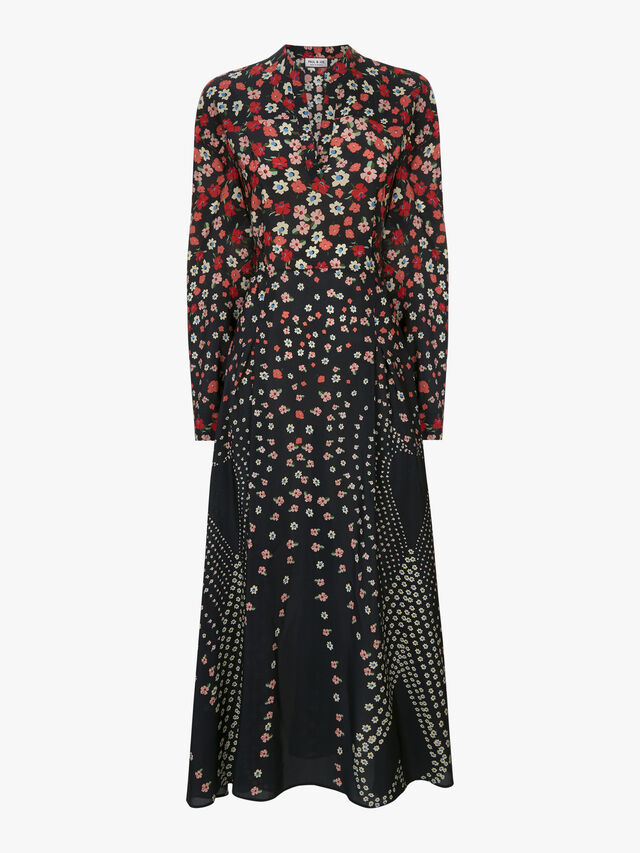 Ditsy Printed Midi Dress