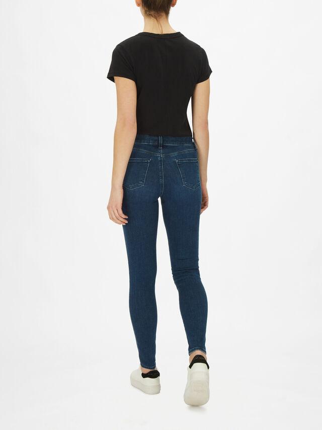Sophia Mid Rise Super Skinny Jeans