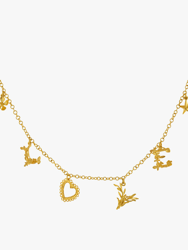 Love Mixed Charm Necklace