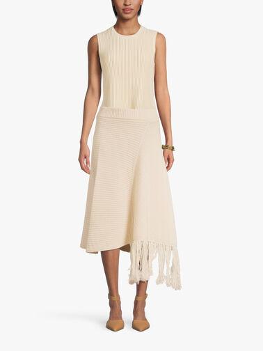 Knit-Fringe-Asymmetric-Hem-Skirt-F1WB86