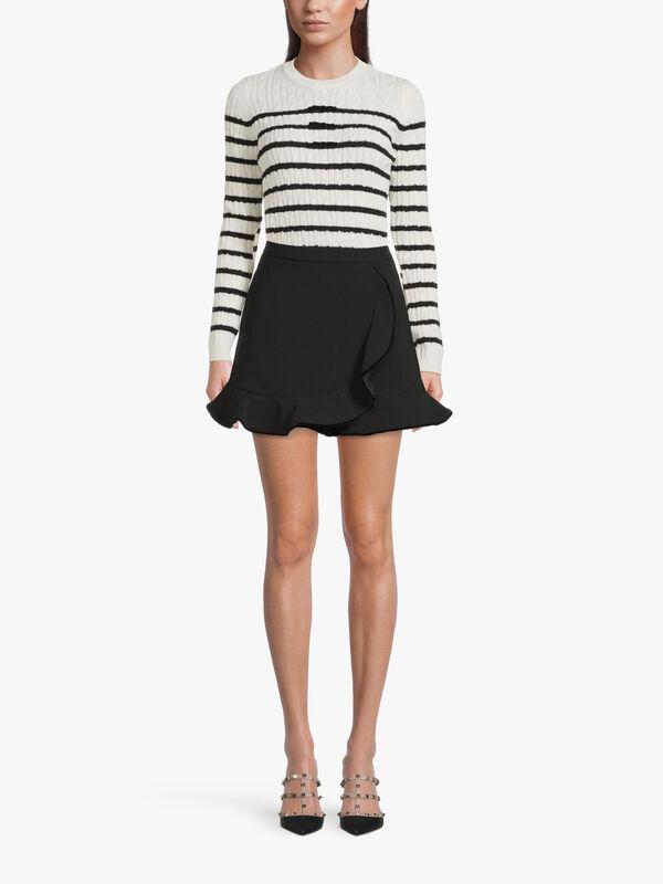 Peplum Wrap Mini Skirt