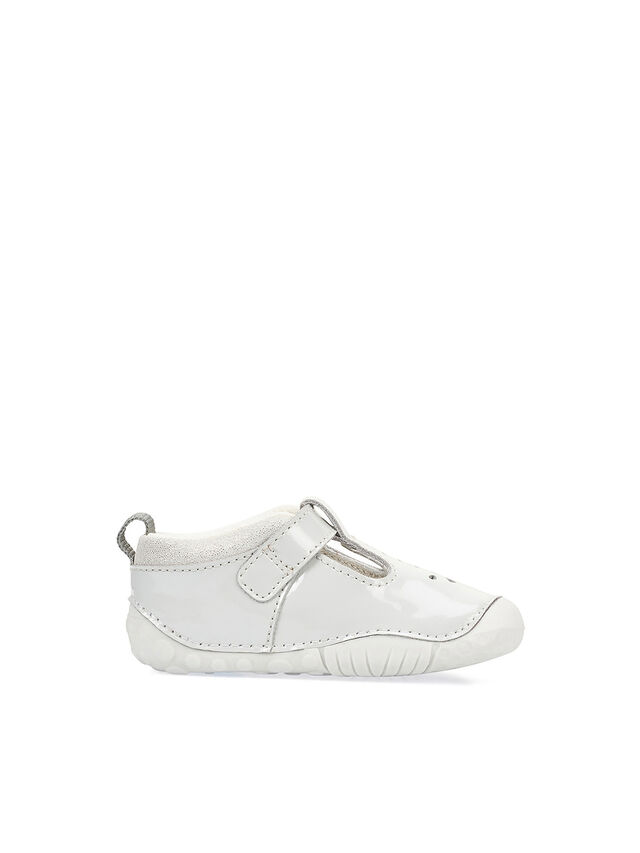 Baby Bubble Grey Patent Baby Shoes