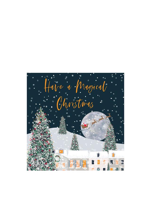 Santa And Moon Boxed Cards