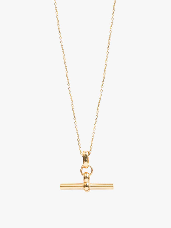 Small T-Bar on Trace Necklace