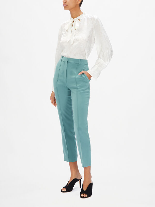 James Cropped Straight Trousers