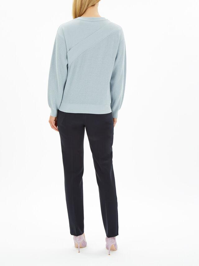 Maiella Asymmetric Stripe Knit