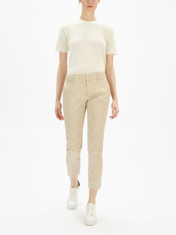 Kim Micro Pattern Stretch Trouser