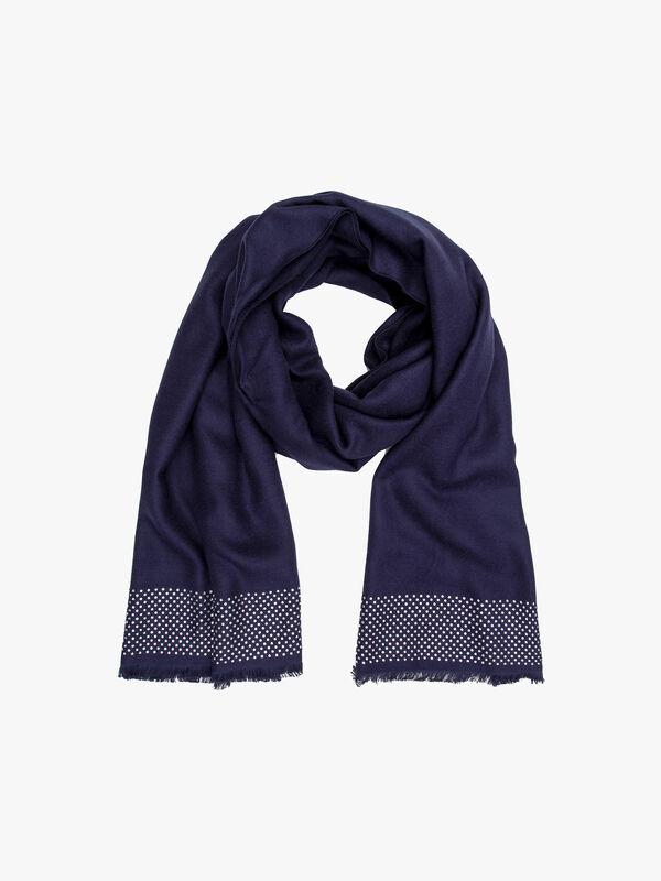 9 row crystal border pashmina style scarf