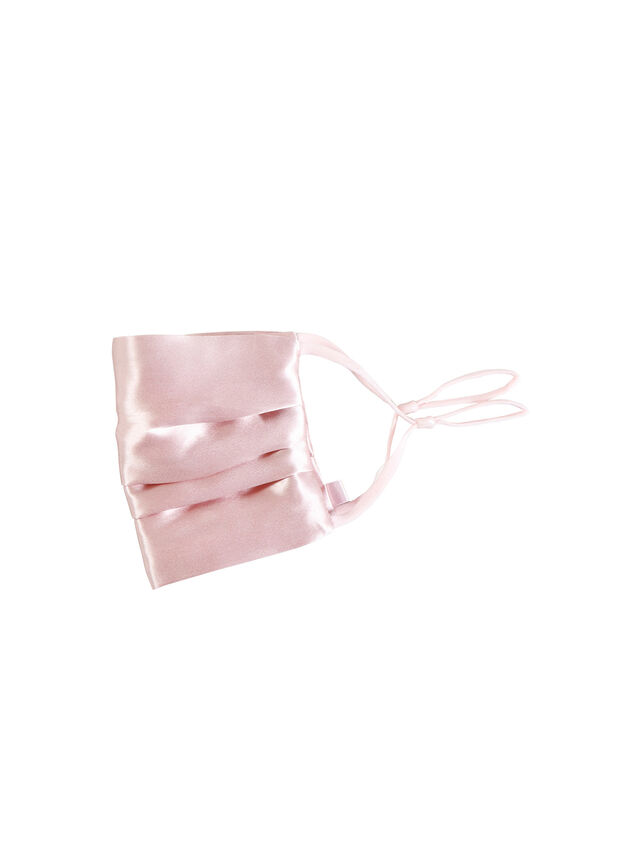 Double-Sided Silk Reusable Face Covering Pink