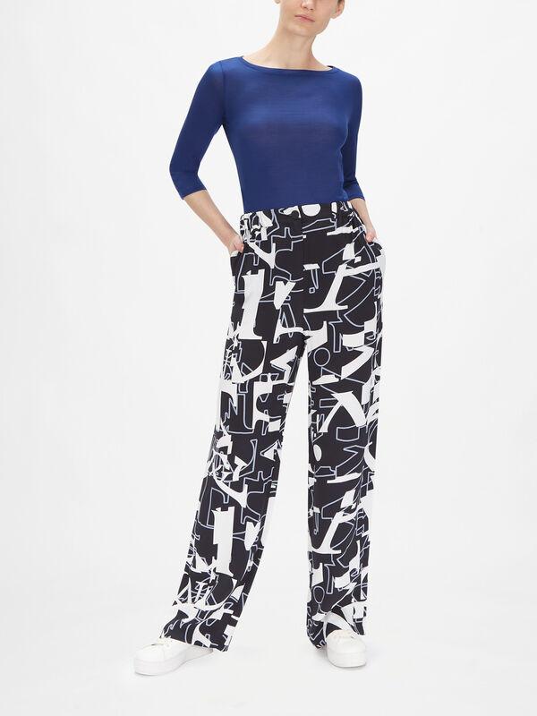 Attivo Lettering Pattern Trouser