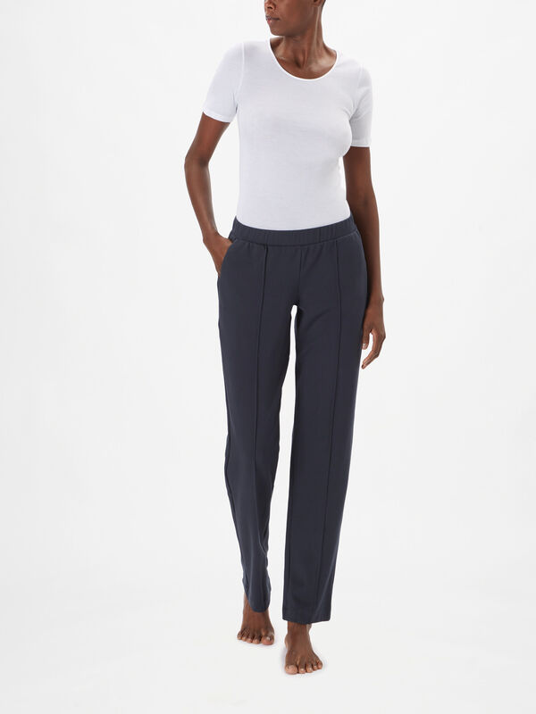 Pure Comfort Interlock Long Pants Straight Leg