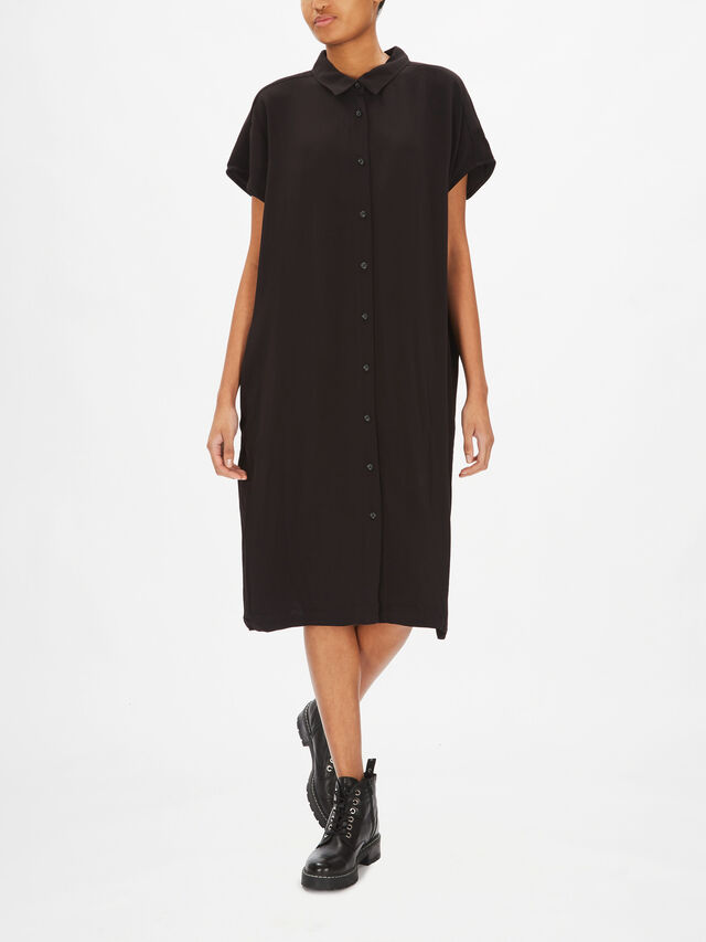 Nella Button Through Cap Sleeve Dress
