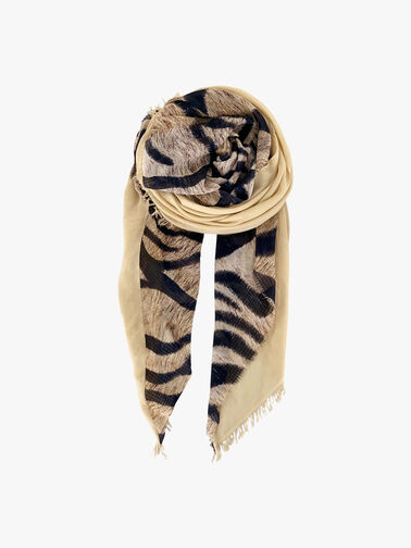 Gold Ivory Tiger Scarf