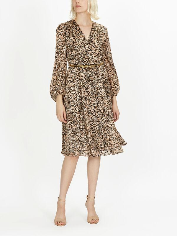 Egemone LS Wrap Top Dress w/Belt