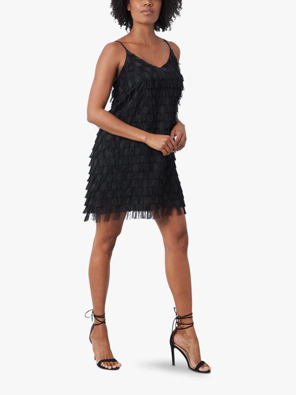 Fringe Detail Mini Dress