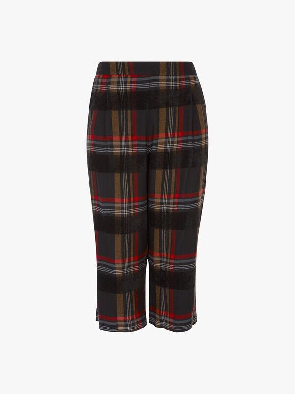 Tartan Wide Leg Trousers