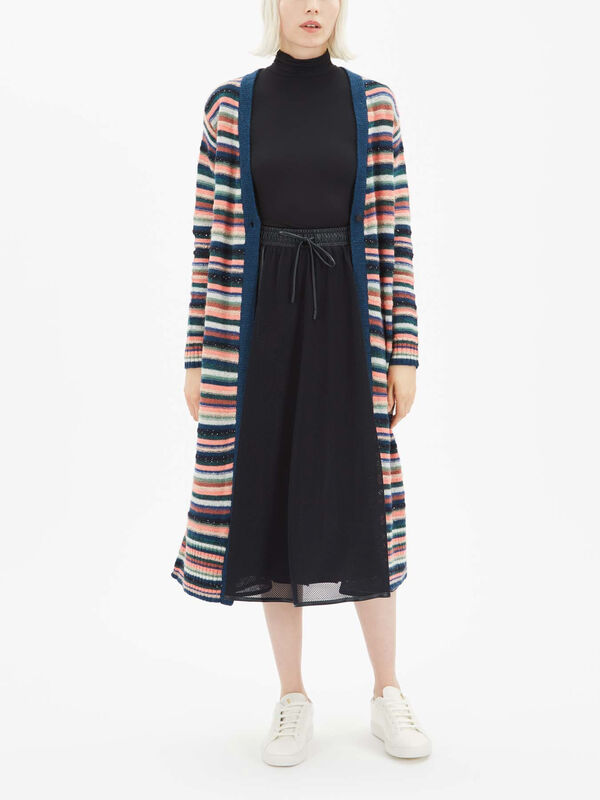 Dallas Stripe Maxi Cardigan