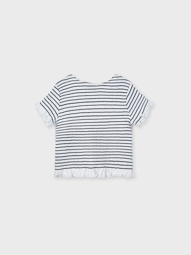 Ruched Stripe Top