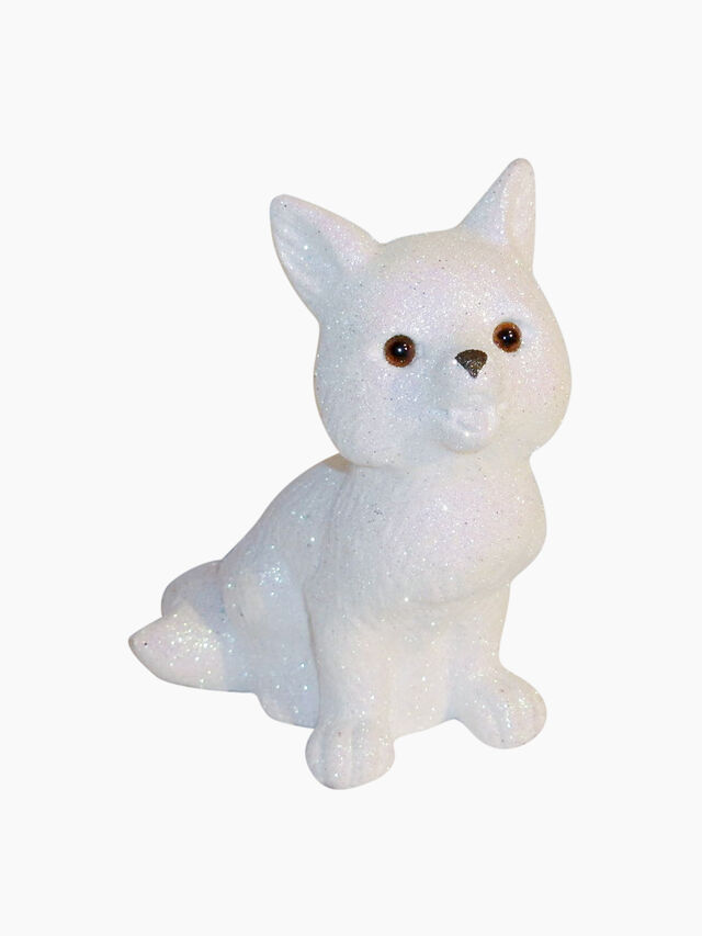 Fox White Decoration