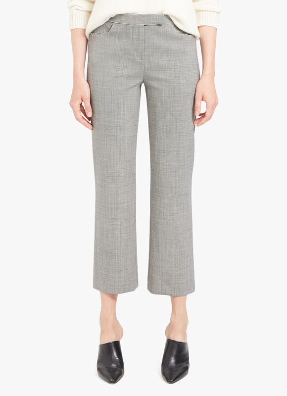 Houndstooth Skinny Crop Trousers