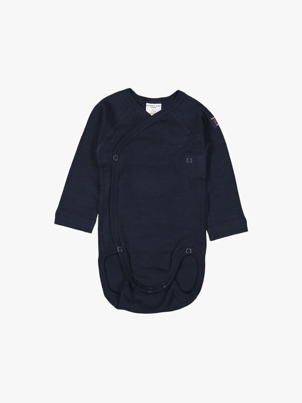 Striped GOTS Organic Wraparound Baby Bodysuit