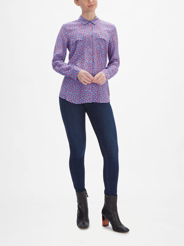 Lilac Poppy Lips Print Shirt