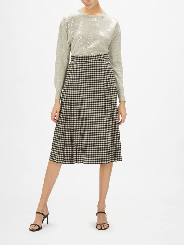 Candida Midi Skirt with Pleat Detail